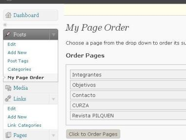 My Page Order